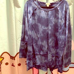 PLUS! Style & CO Blue Tie-Dye Sweatshirt